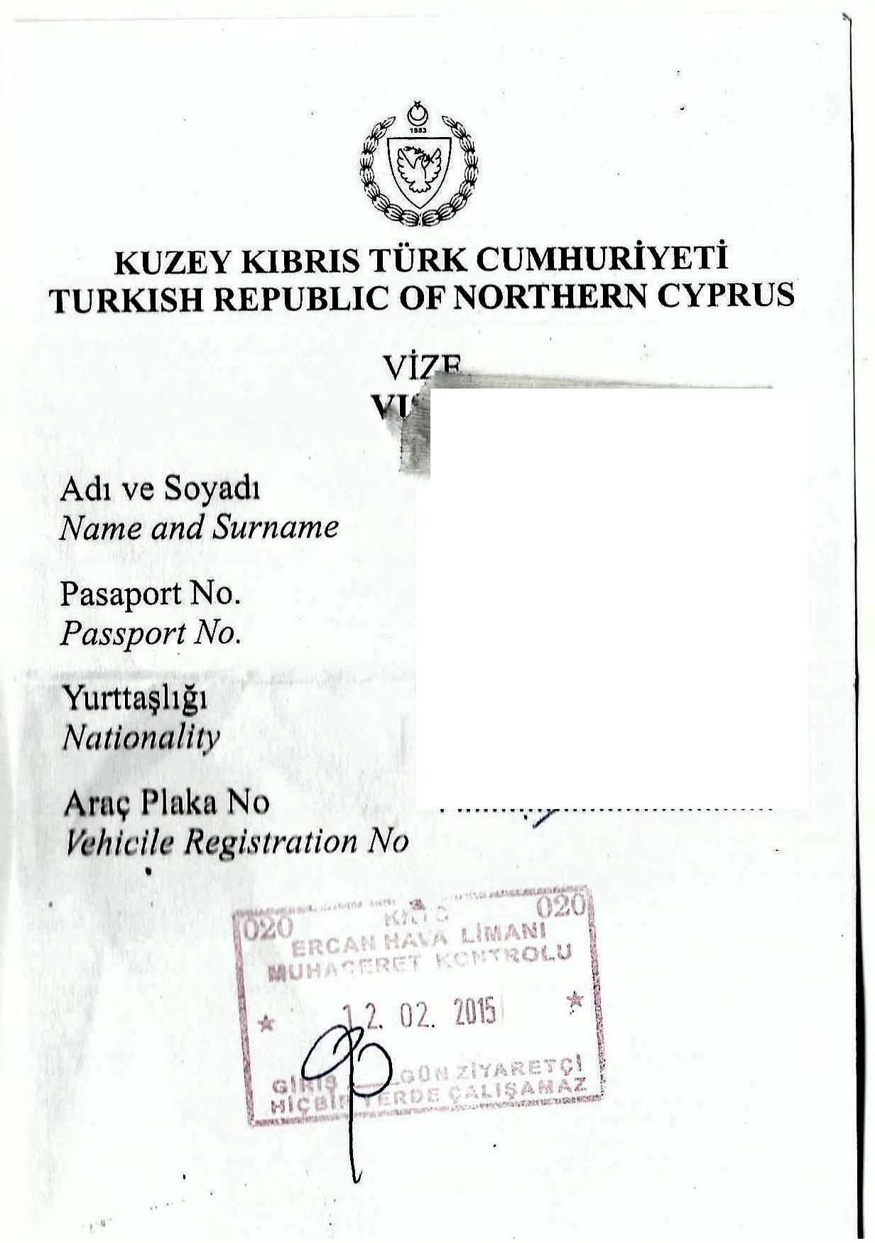 visa sur papier volant !